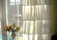 white ruffle curtains target