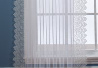 White Semi Sheer Curtains
