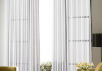 White Sheer Curtains With Designs