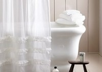 White Shower Curtain Bathroom