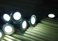 White Solar Deck Lights