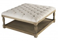 White Tufted Ottoman Coffee Table