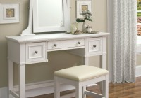 White Vanity Desk With Mirror