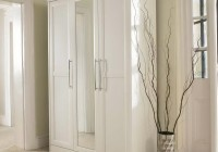 White Wardrobe Closet With Mirror