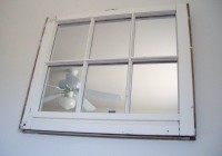 White Window Pane Mirror
