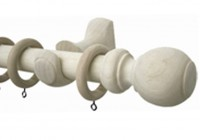 white wooden curtain rods