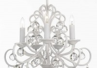 White Wrought Iron Crystal Chandelier