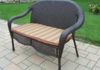 wicker loveseat cushions outdoor