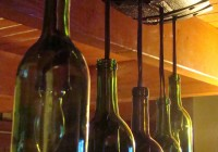 Wine Barrel Wine Bottle Chandelier