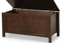 Wood And Leather Storage Bench