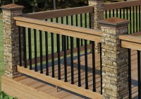 Wood And Metal Railings For Decks