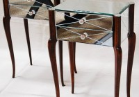 Wood And Mirrored Bedside Table