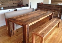 Wood Bench Dining Table