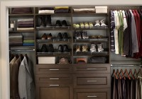Wood Closet Organizers With Drawers