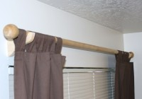 wood curtain rods home depot