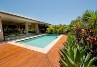 Wood Deck Around Pool