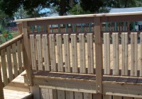 wood deck handrail designs