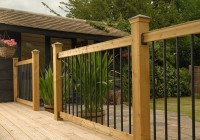 wood deck railing kits