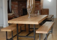 Wood Dining Tables With Benches