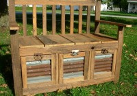 Wood Storage Bench Plans