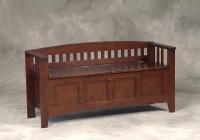 Wood Storage Bench Seat