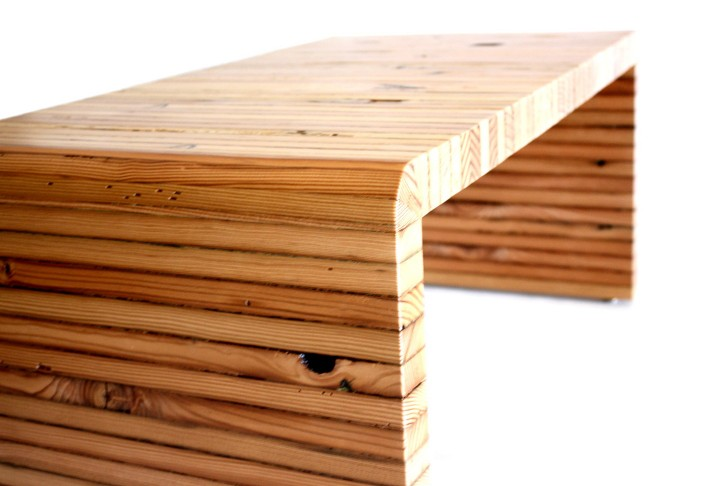 Permalink to Wooden Bench Coffee Table