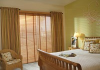 Wooden Blinds And Curtains Together