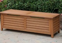 Wooden Deck Box Bench