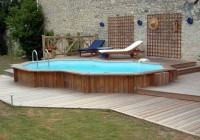 Wooden Deck Ideas For Above Ground Pools
