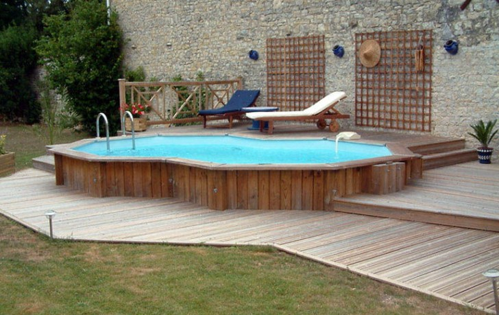 Permalink to Wooden Deck Ideas For Above Ground Pools