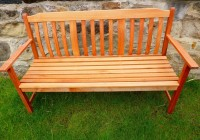 Wooden Garden Bench 3 Seater
