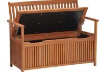 Wooden Garden Bench With Storage