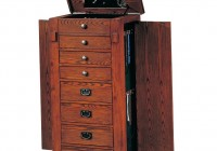 Wooden Mirror Jewelry Cabinet