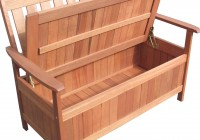 Wooden Storage Chest Bench