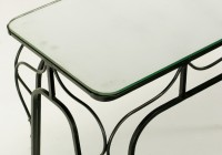 wrought iron console table and mirror