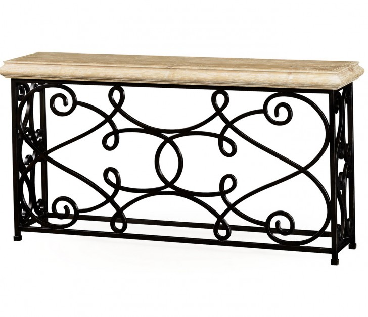 Permalink to Wrought Iron Console Table Base