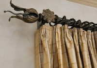 wrought iron curtain rods and finials