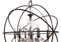 Wrought Iron Orb Chandelier