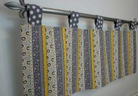 Yellow And Gray Window Curtains