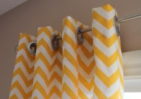 Yellow And White Chevron Curtains