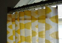 Yellow And White Curtain Panels