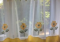 yellow and white kitchen curtains
