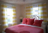 Yellow And White Striped Curtains