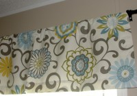 Yellow Grey And Blue Curtains