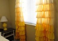 yellow ruffle curtain panels